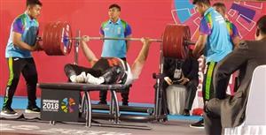 رقابتهای پارااسیایی 2018؛ صلحیپور با رکوردشکنی طلای پاراوزنه برداری را برگردن آویخت